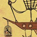 Il navigue dans le ciel. L'oiseau le guide. Mais la chaloupe est là...